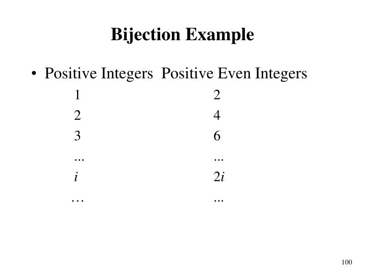 Bijection Example