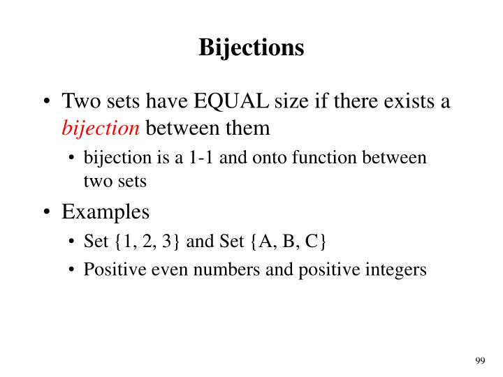 Bijections