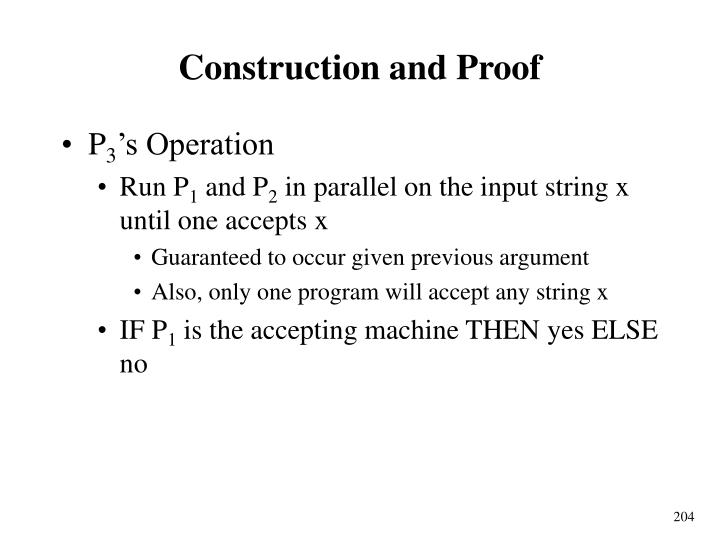 Construction and Proof
