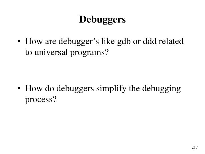 Debuggers