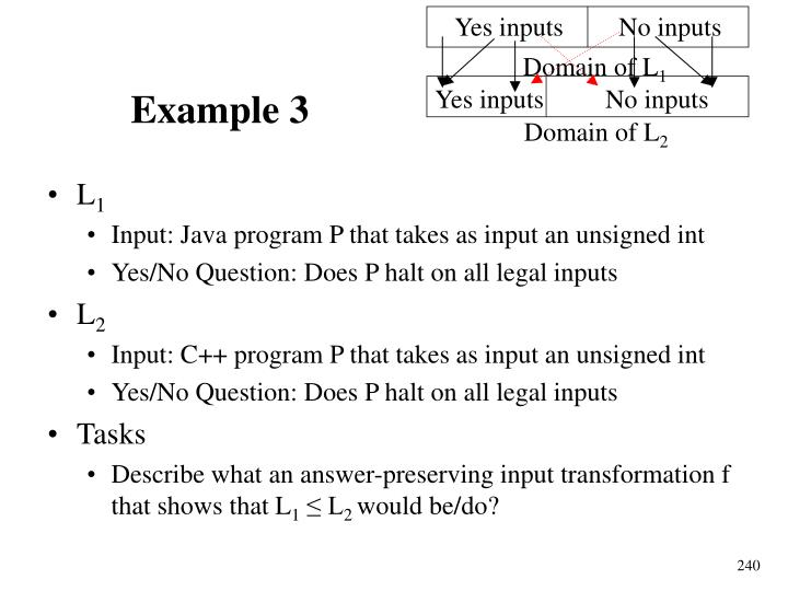 Yes inputs