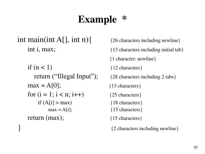 Example  *