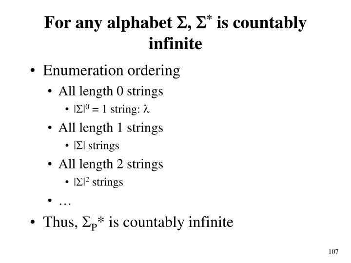 For any alphabet