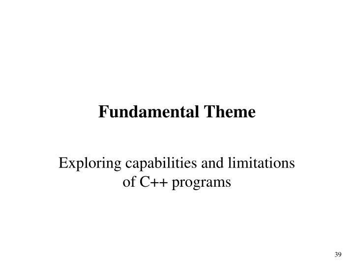 Fundamental Theme