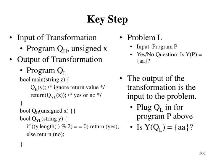Key Step