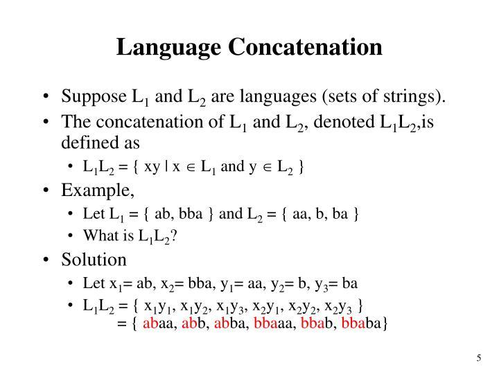 Language Concatenation