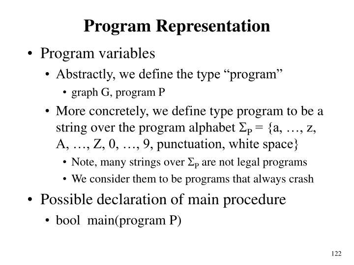 Program Representation