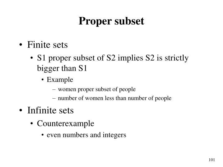 Proper subset