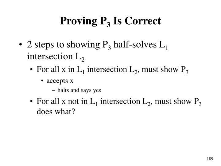 Proving P