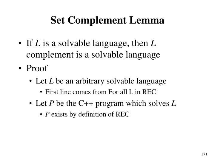 Set Complement Lemma