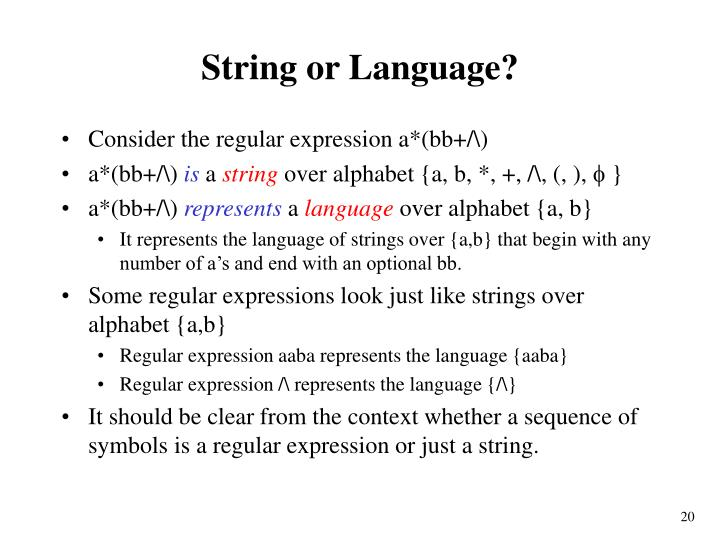 String or Language?