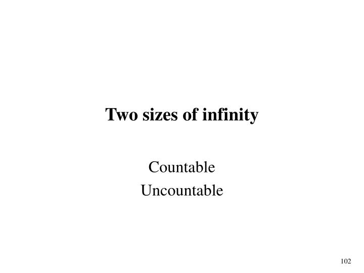 Two sizes of infinity