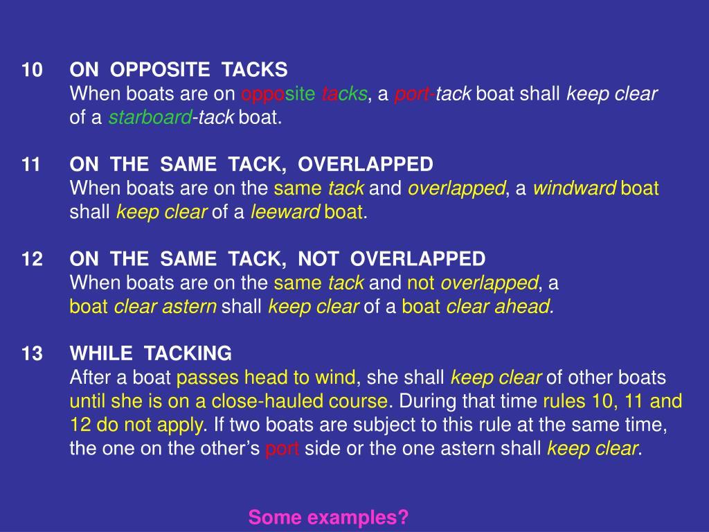 10ON  OPPOSITE  TACKS