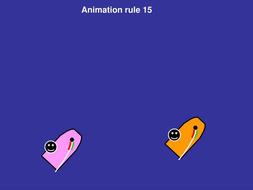 Animation rule 15