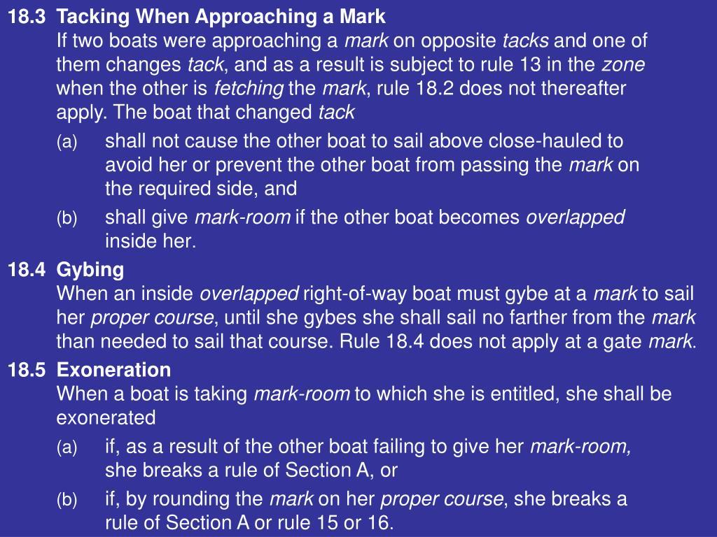 18.3Tacking When Approaching a Mark