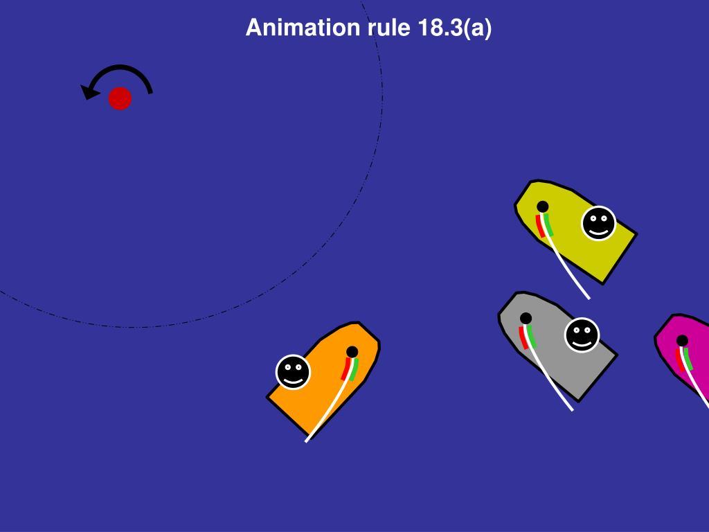 Animation rule 18.3(a)