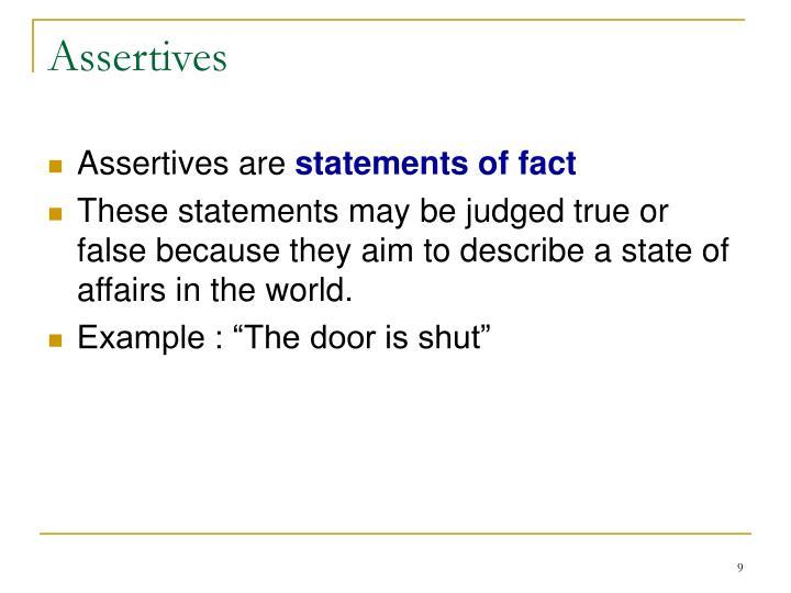 Assertives