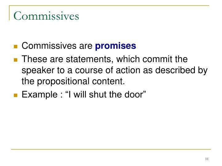 Commissives