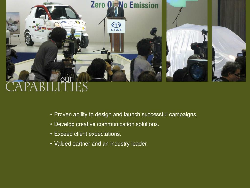 Proven ability to design and launch successful campaigns.