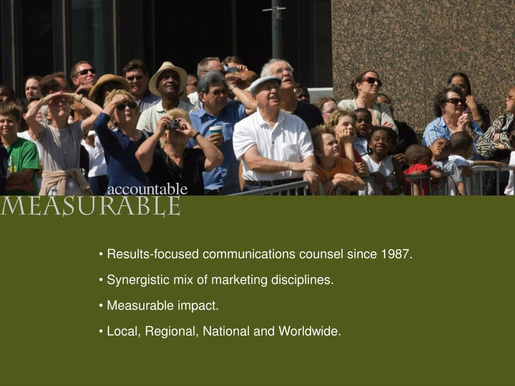 Results-focused communications counsel since 1987.