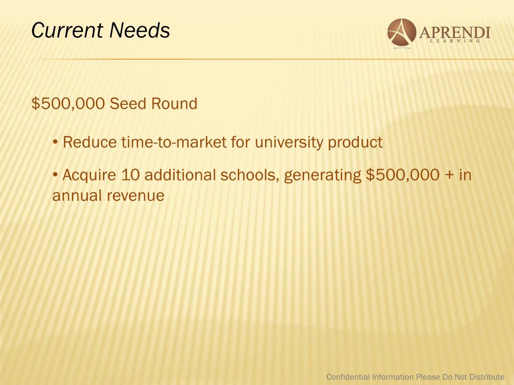 Current Needs