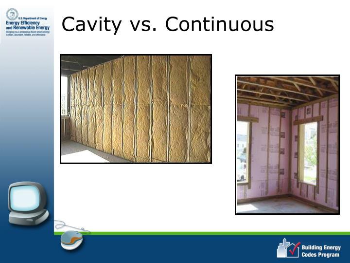 Cavity vs. Continuous