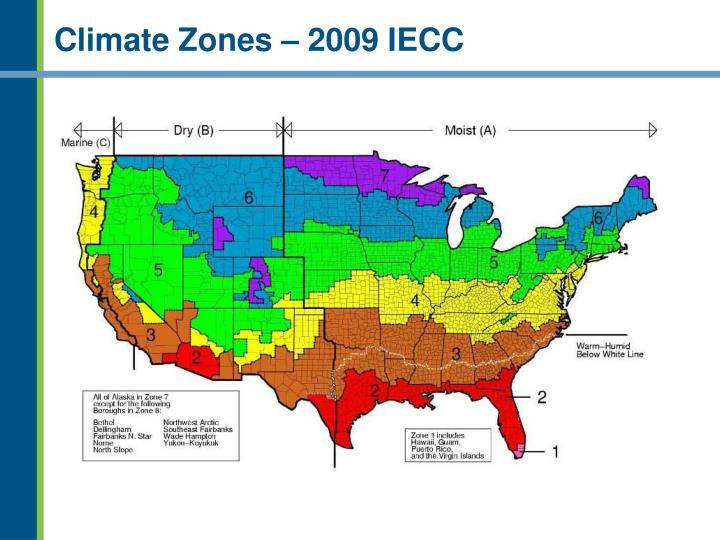 Climate Zones – 2009 IECC