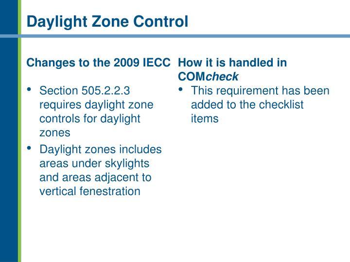 Daylight Zone Control