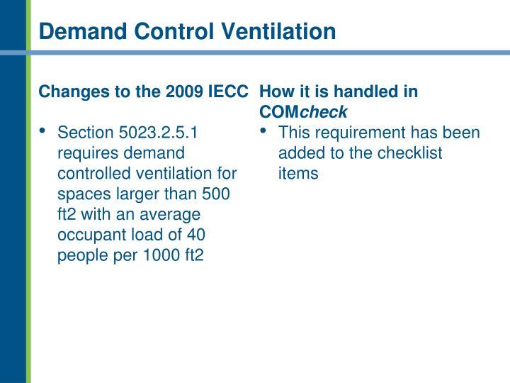 Demand Control Ventilation