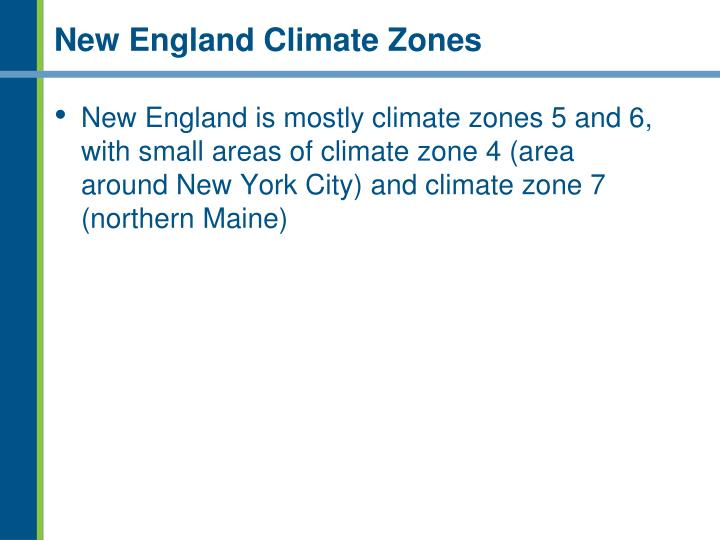 New England Climate Zones