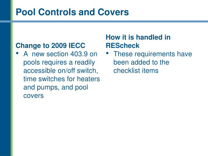Pool Controls and Covers