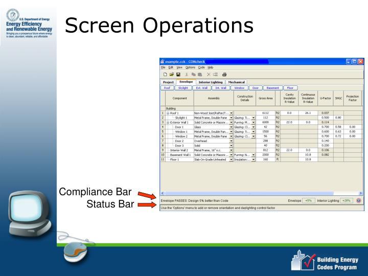 Screen Operations