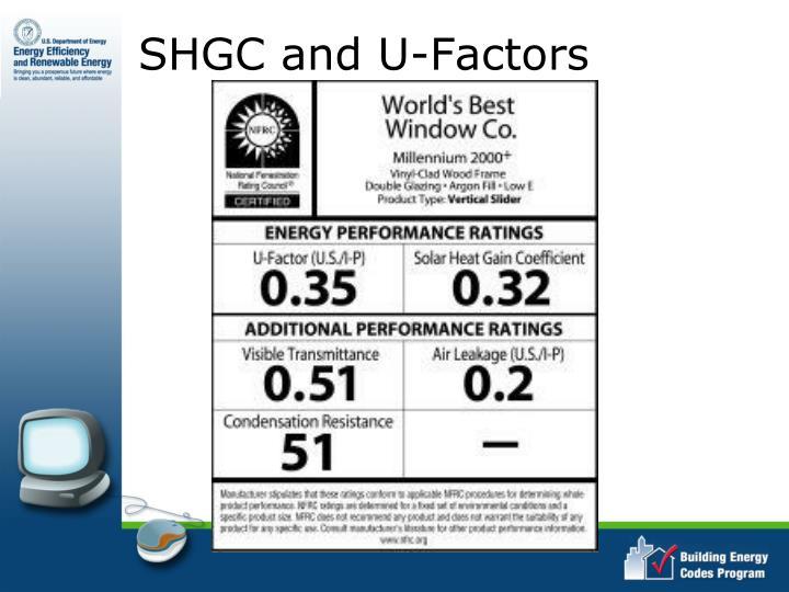 SHGC and U-Factors