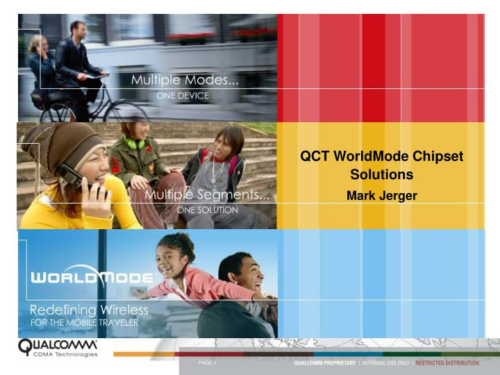 QCT WorldMode Chipset Solutions