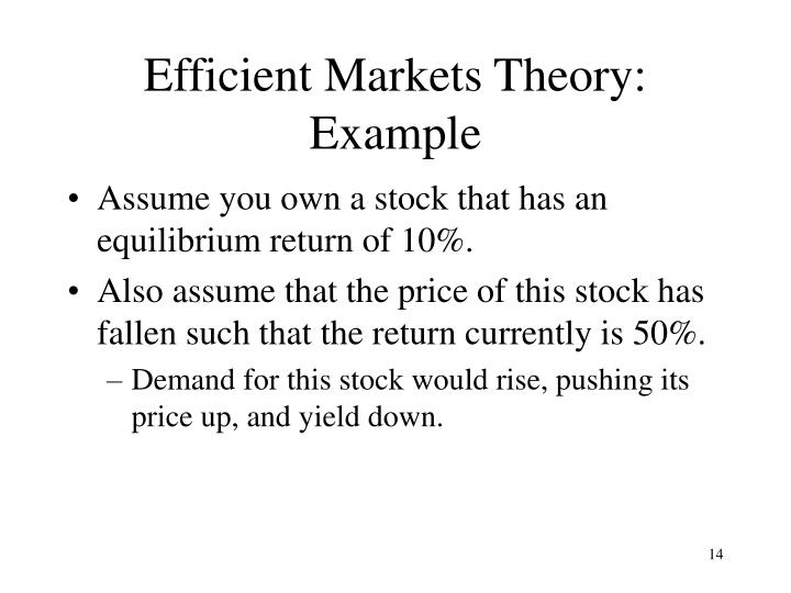 Efficient Markets Theory: Example