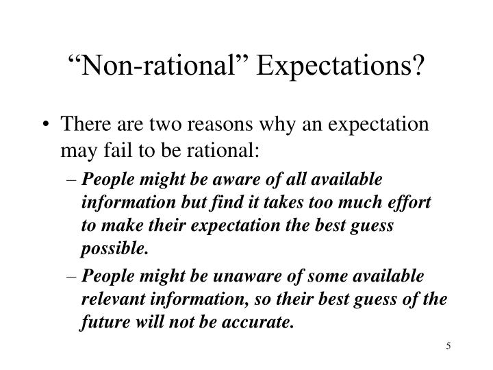 """Non-rational"" Expectations?"