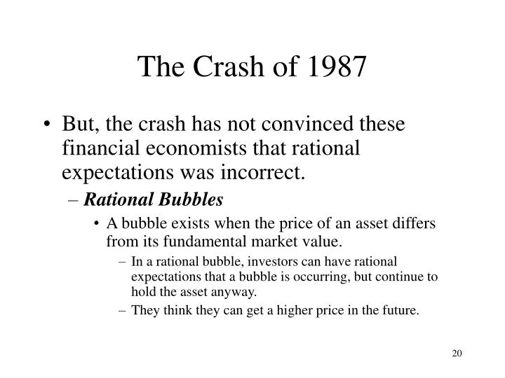 The Crash of 1987