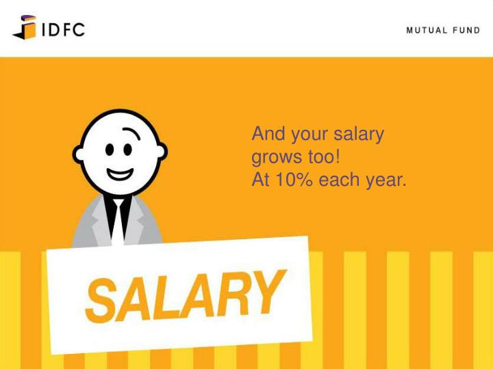 And your salary grows too!