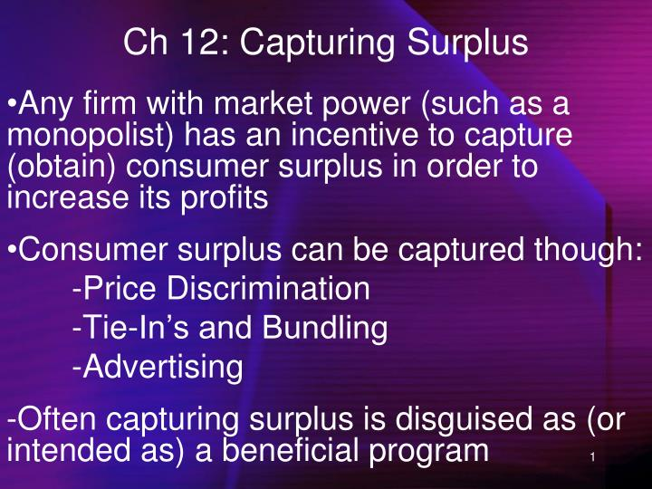 Ch 12 capturing surplus