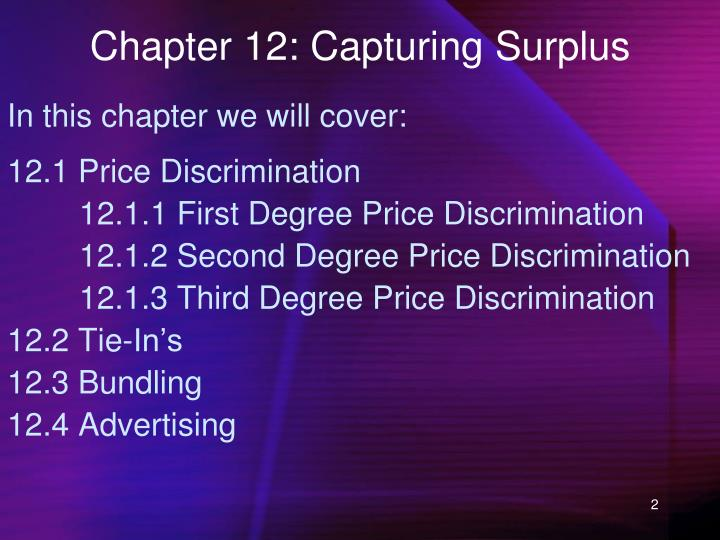 Chapter 12: Capturing Surplus