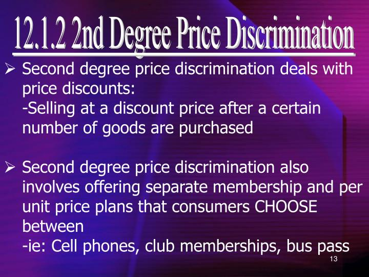 12.1.2 2nd Degree Price Discrimination