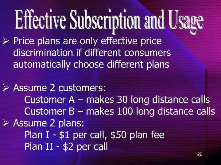 Effective Subscription and Usage