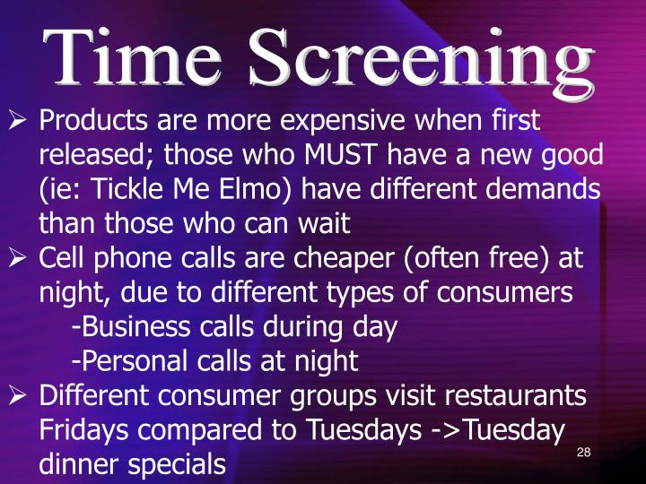 Time Screening