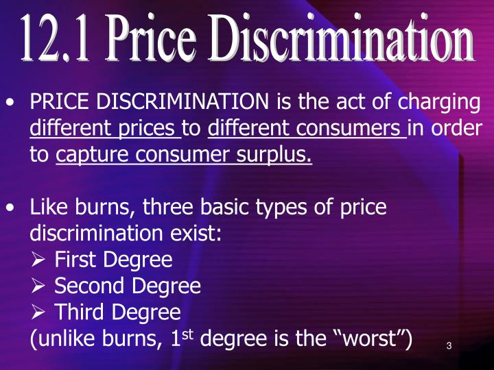 12.1 Price Discrimination