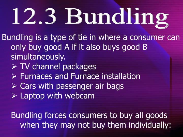 12.3 Bundling