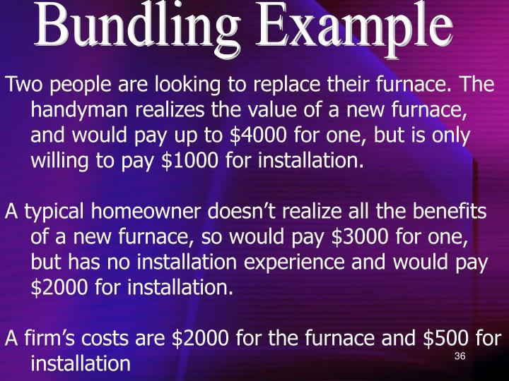Bundling Example