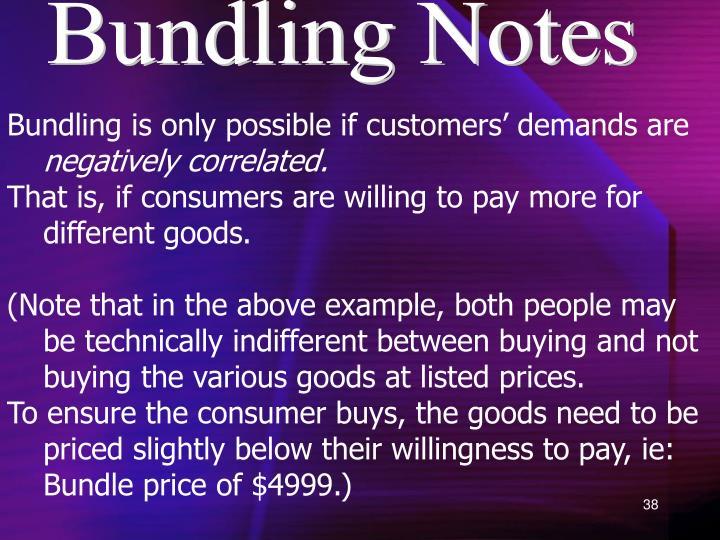 Bundling Notes