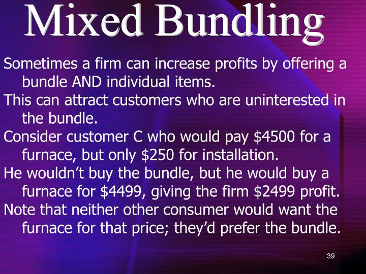 Mixed Bundling