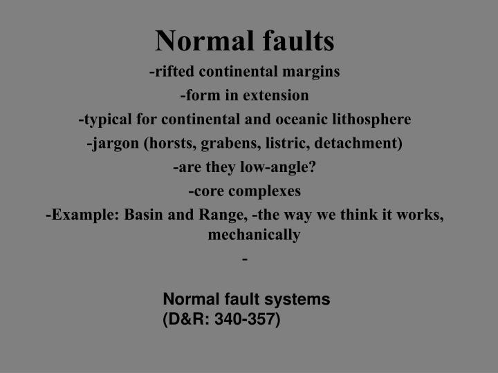 Normal faults