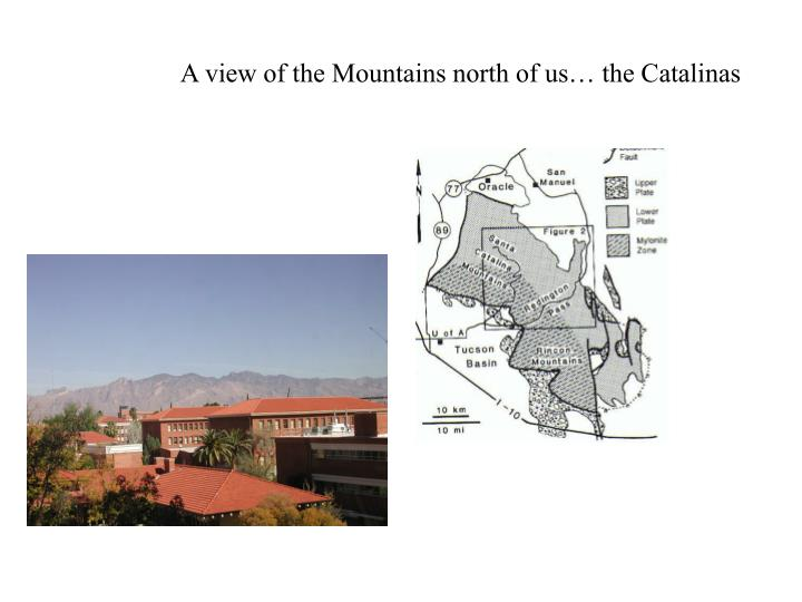 A view of the Mountains north of us… the Catalinas